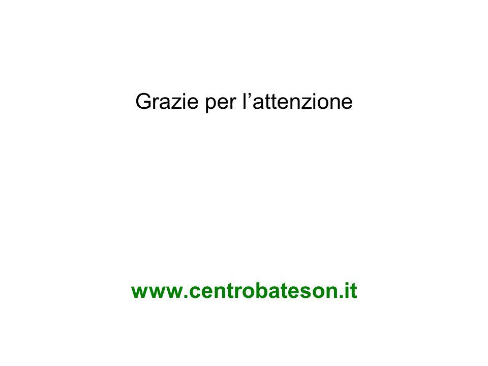 Grazie per l'attenzione www.centrobateson.it