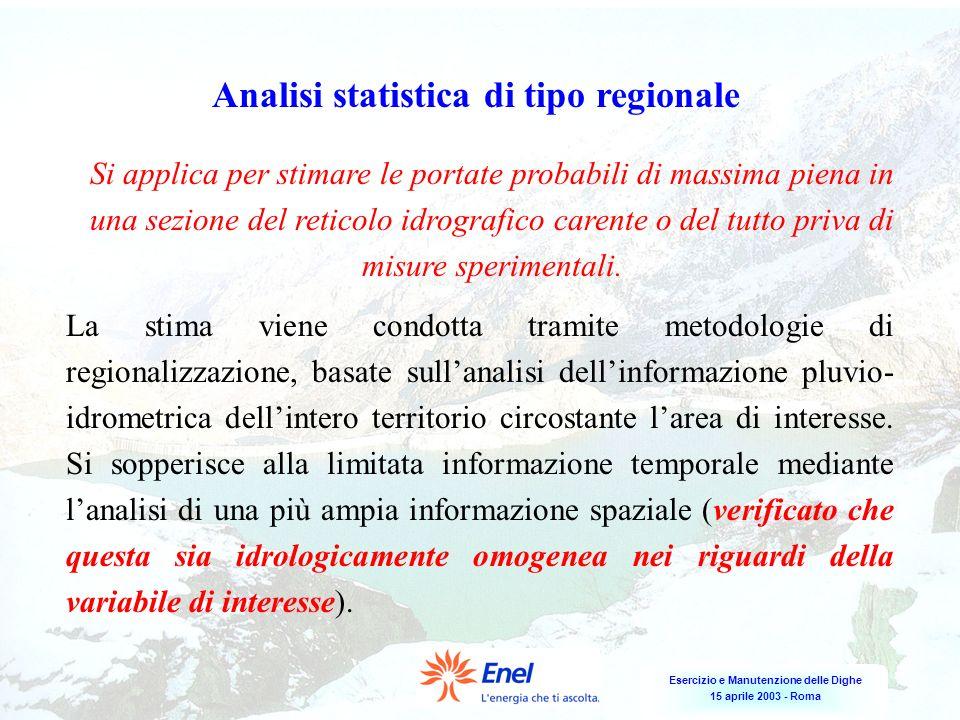 Analisi statistica di tipo regionale
