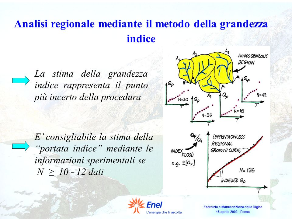 Analisi regionale mediante il metodo della grandezza indice