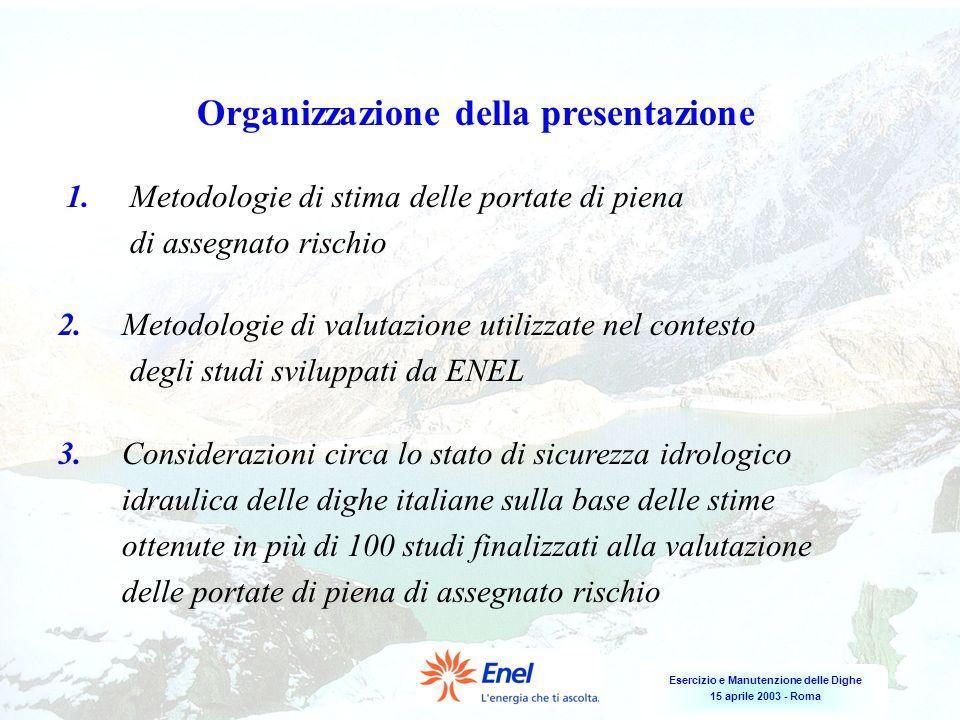 Organizzazione della presentazione