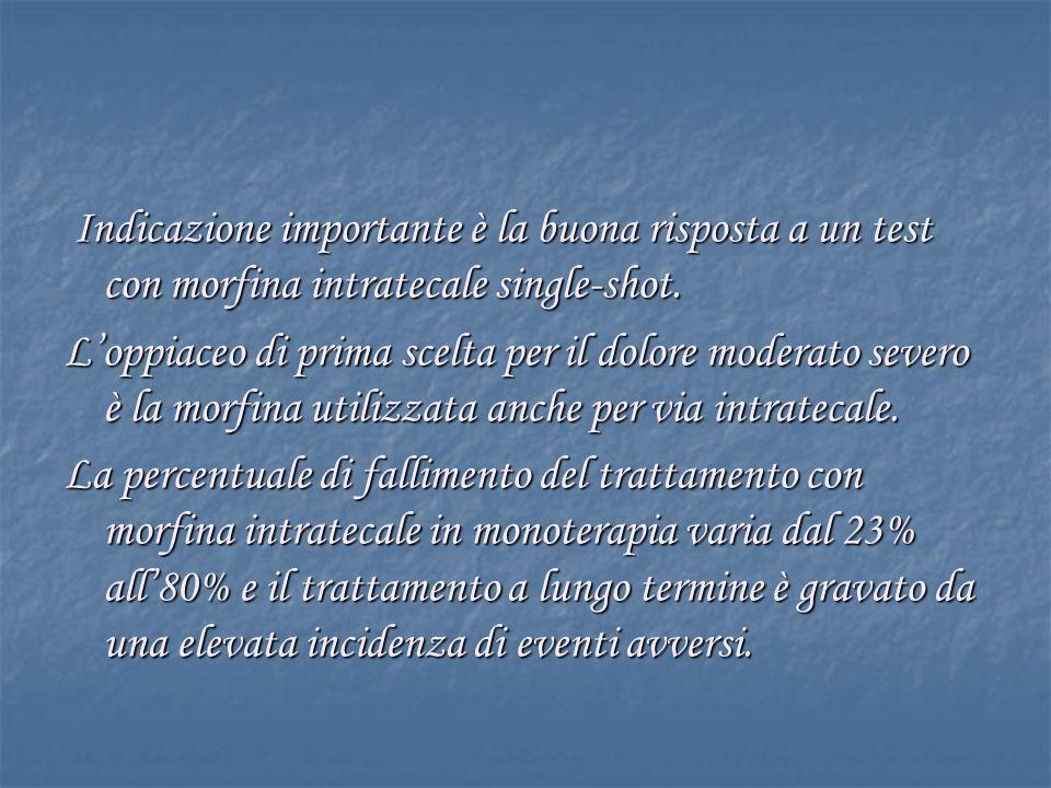 Indicazione importante è la buona risposta a un test con morfina intratecale single-shot.