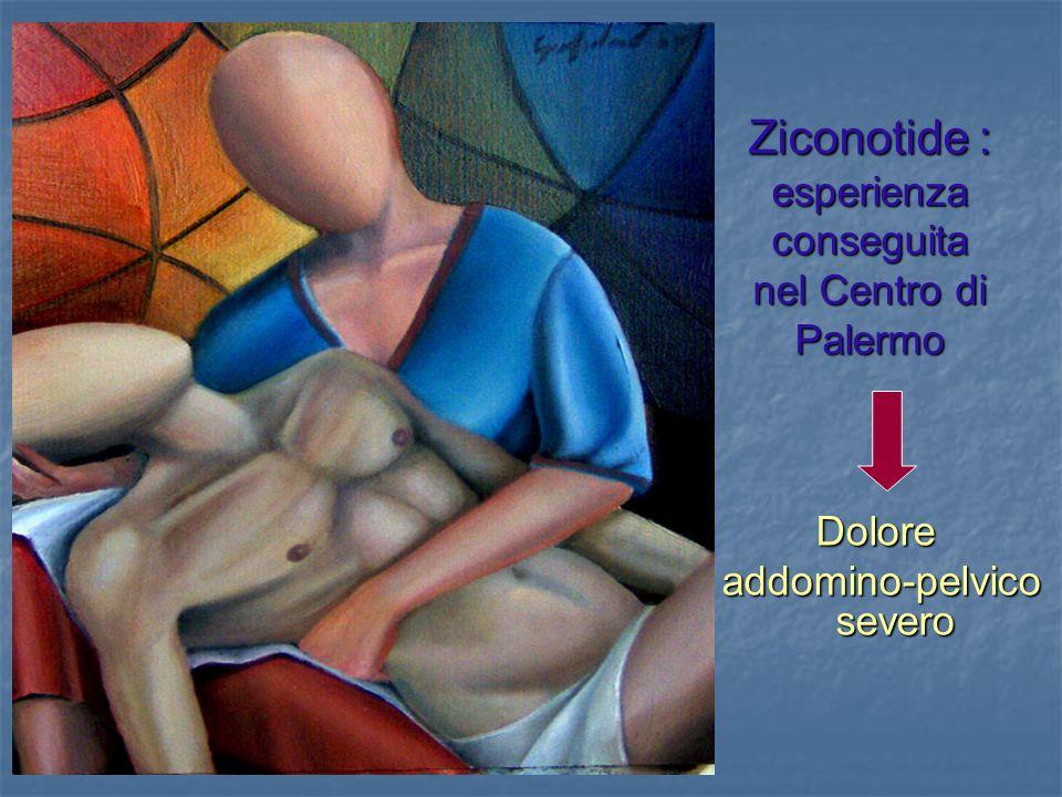 Ziconotide : esperienza conseguita nel Centro di Palermo