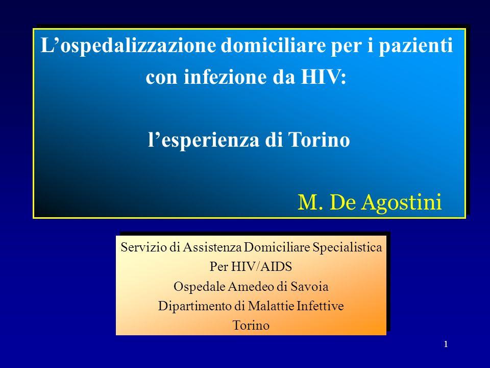 L'ospedalizzazione domiciliare per i pazienti l'esperienza di Torino