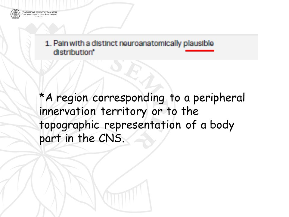 *A region corresponding to a peripheral innervation territory or to the topographic representation of a body part in the CNS.