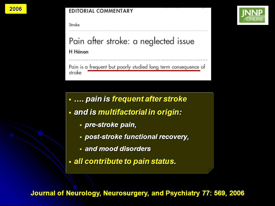 Journal of Neurology, Neurosurgery, and Psychiatry 77: 569, 2006