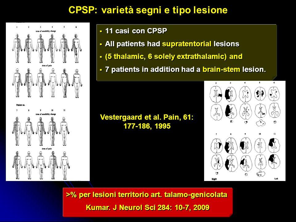 CPSP: varietà segni e tipo lesione