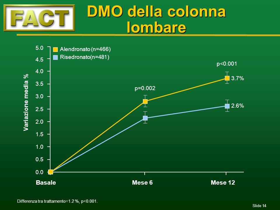 DMO della colonna lombare