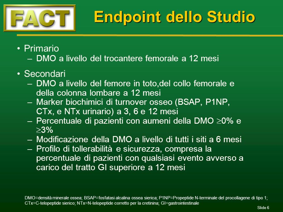 Endpoint dello Studio Primario Secondari