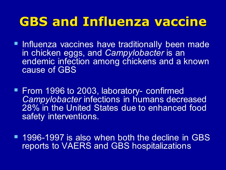 GBS and Influenza vaccine