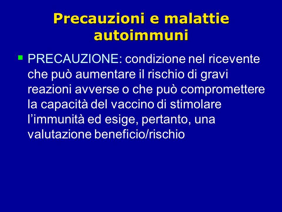 Precauzioni e malattie autoimmuni