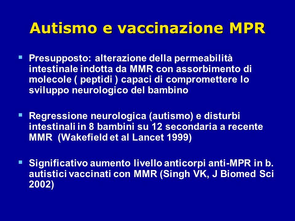 Autismo e vaccinazione MPR
