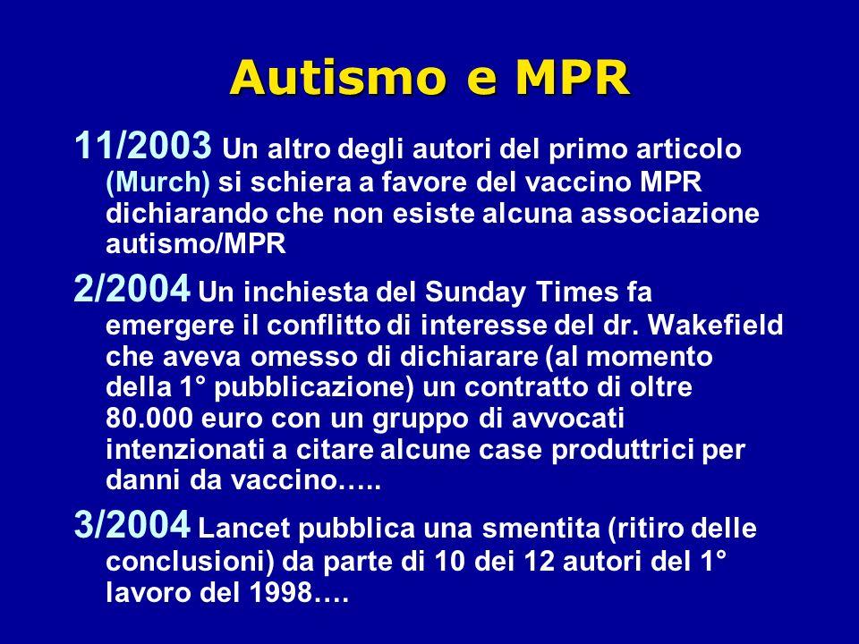 Autismo e MPR