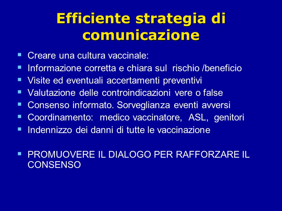 Efficiente strategia di comunicazione