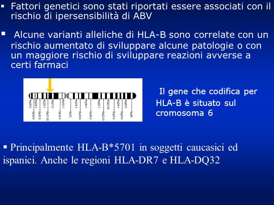 Il gene che codifica per HLA-B è situato sul cromosoma 6