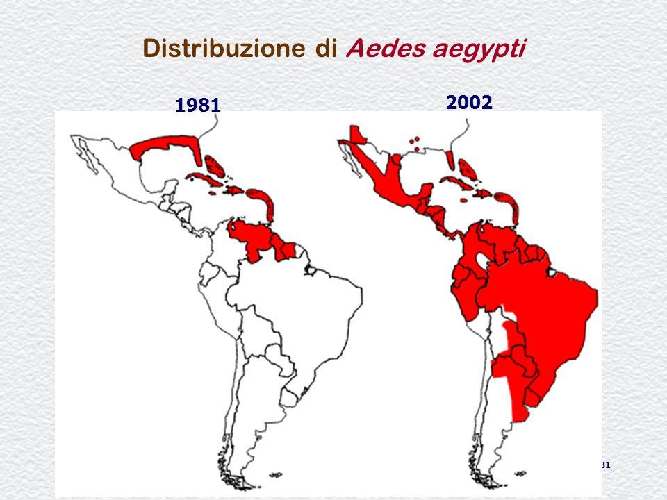 Distribuzione di Aedes aegypti