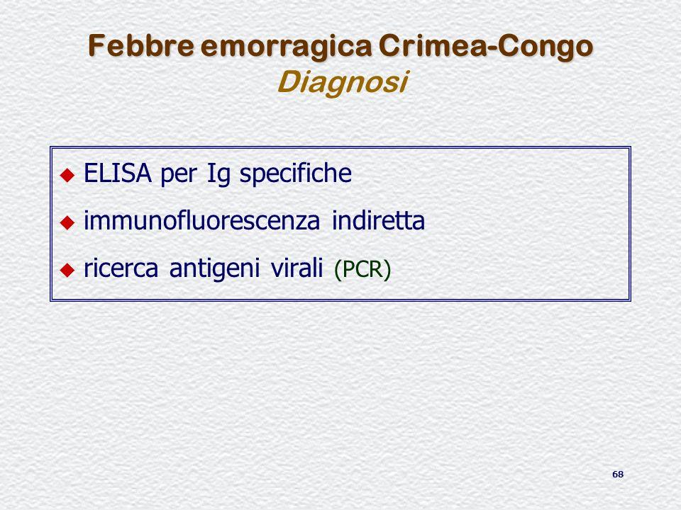 Febbre emorragica Crimea-Congo Diagnosi