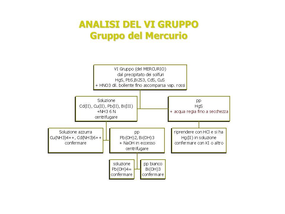 ANALISI DEL VI GRUPPO Gruppo del Mercurio