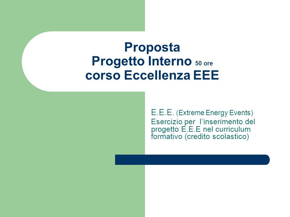 Proposta Progetto Interno 50 ore corso Eccellenza EEE