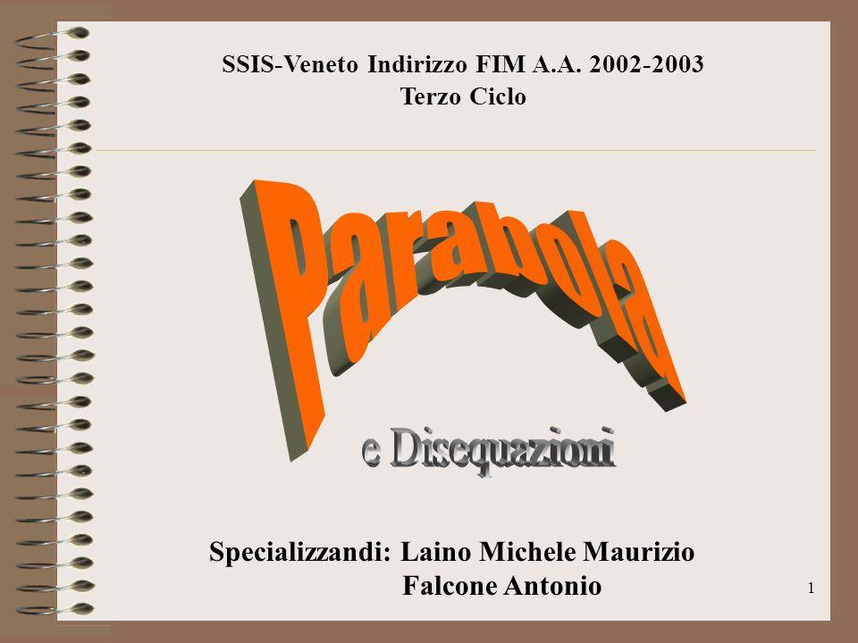 SSIS-Veneto Indirizzo FIM A.A. 2002-2003