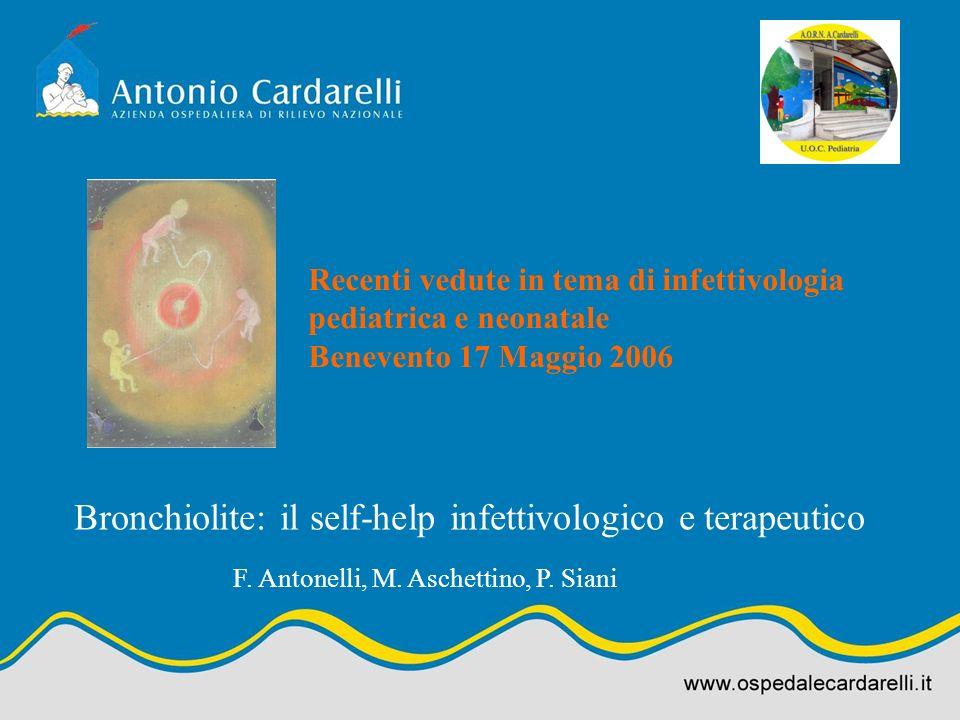 Bronchiolite: il self-help infettivologico e terapeutico