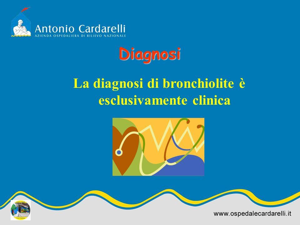 La diagnosi di bronchiolite è esclusivamente clinica