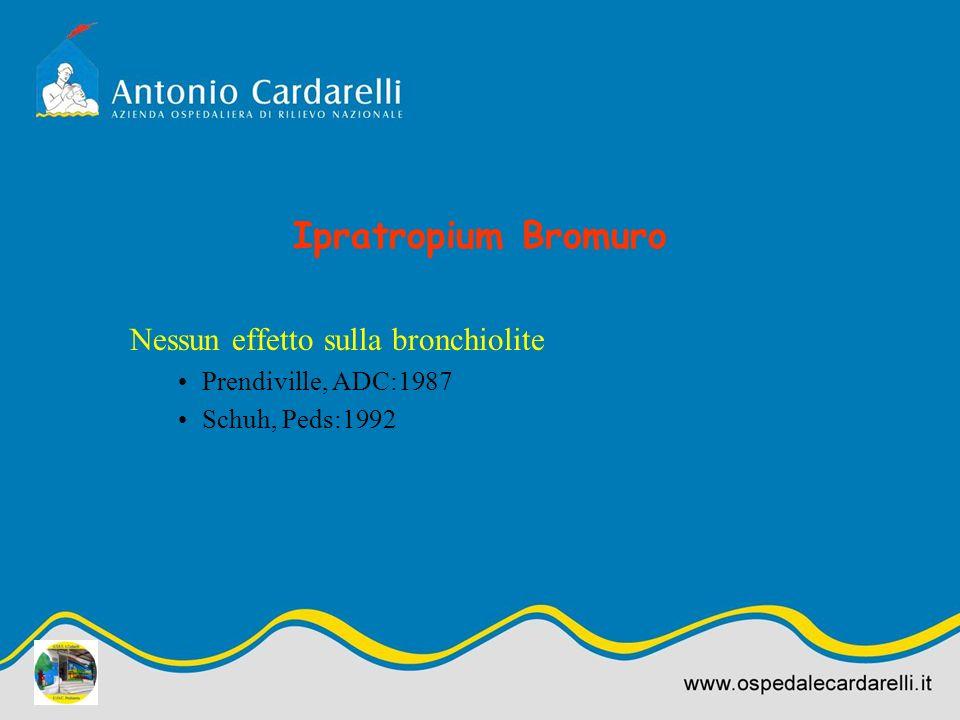 Ipratropium Bromuro Nessun effetto sulla bronchiolite