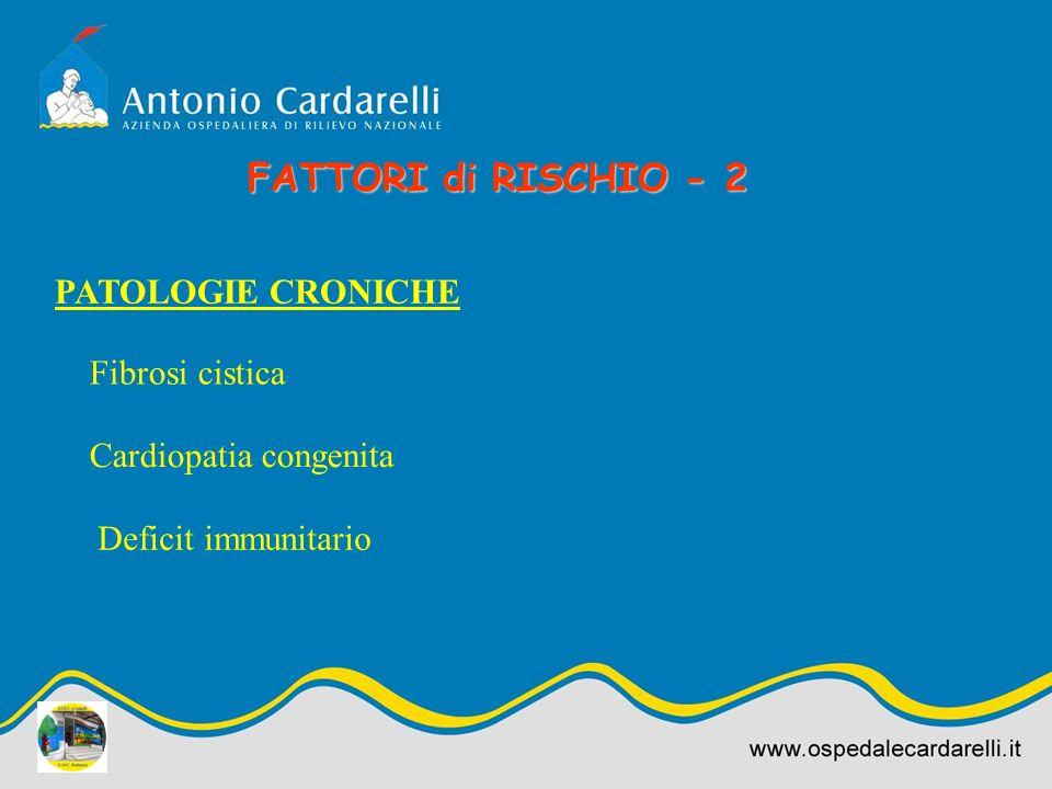 FATTORI di RISCHIO - 2 PATOLOGIE CRONICHE Fibrosi cistica