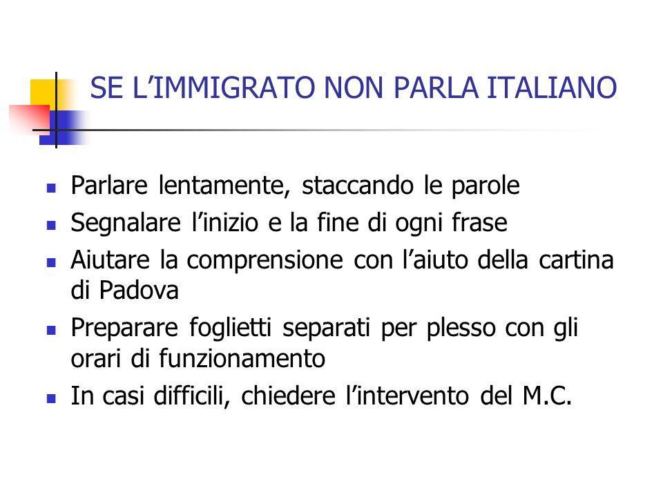 SE L'IMMIGRATO NON PARLA ITALIANO