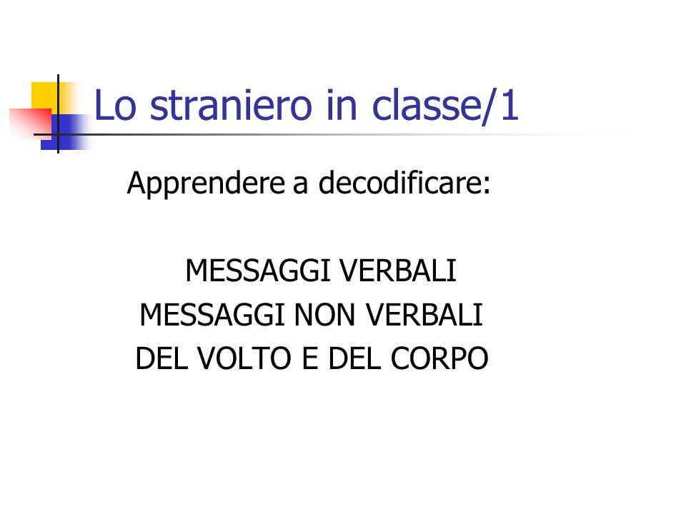 Lo straniero in classe/1