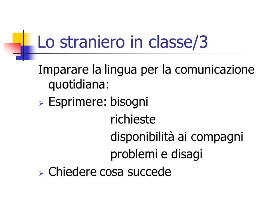 Lo straniero in classe/3