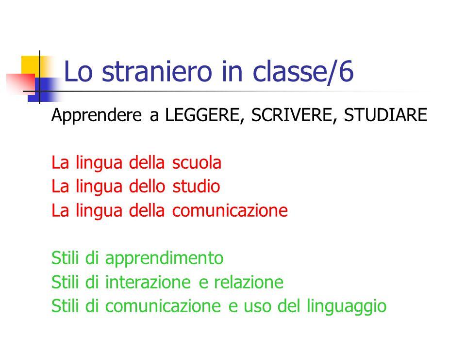 Lo straniero in classe/6