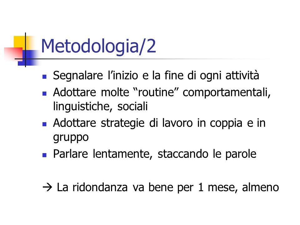 Metodologia/2 Segnalare l'inizio e la fine di ogni attività