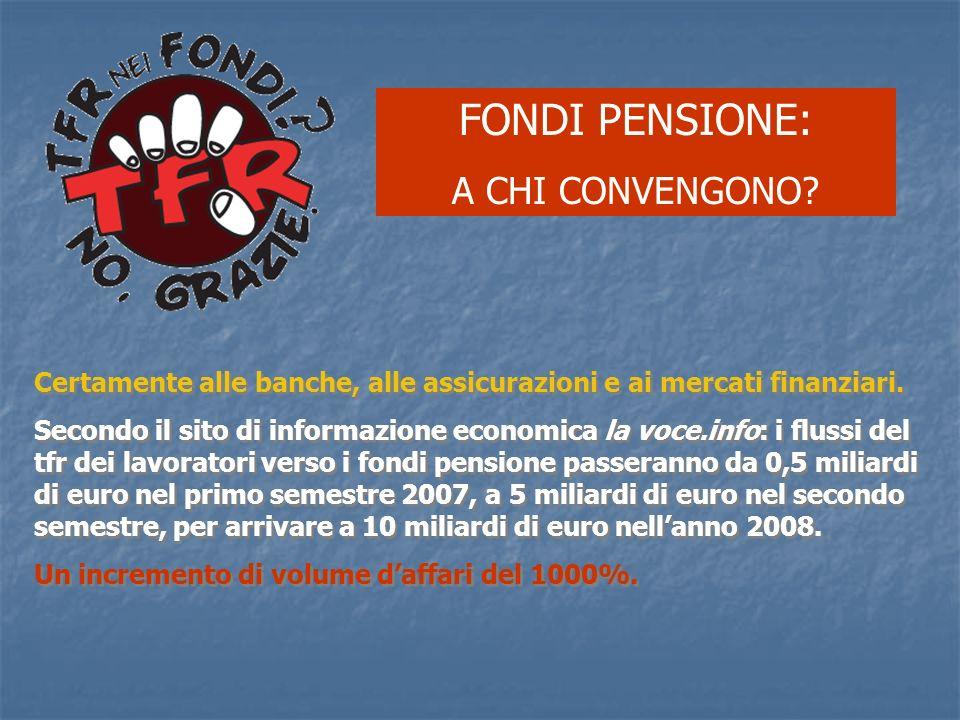 FONDI PENSIONE: A CHI CONVENGONO