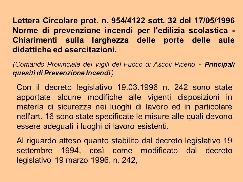 Lettera Circolare prot. n. 954/4122 sott