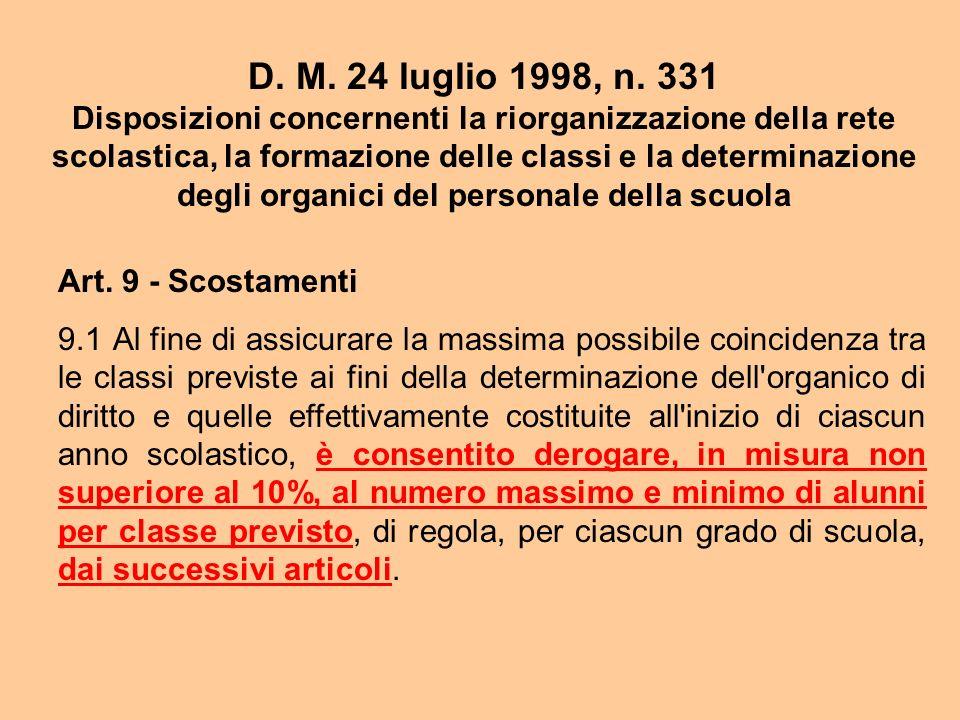 D. M. 24 luglio 1998, n. 331