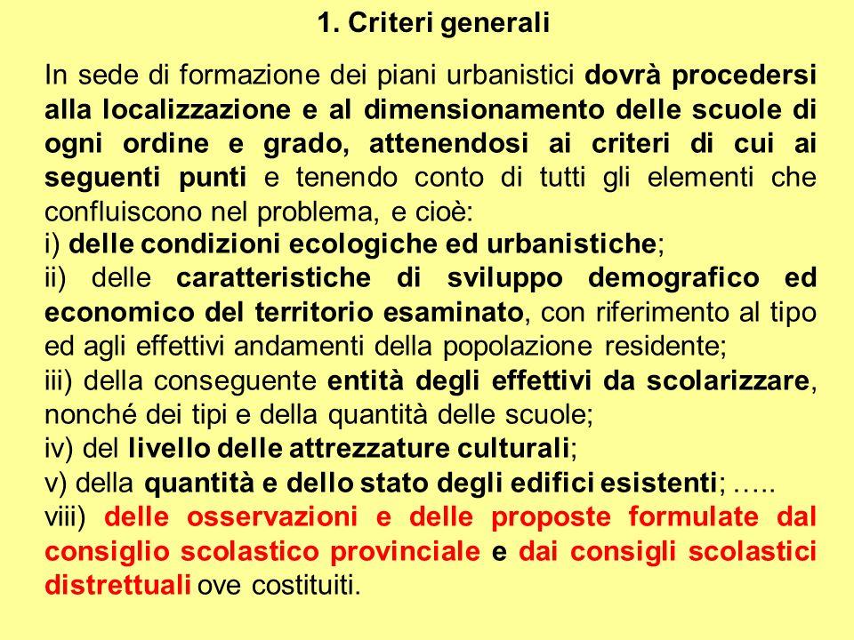 1. Criteri generali