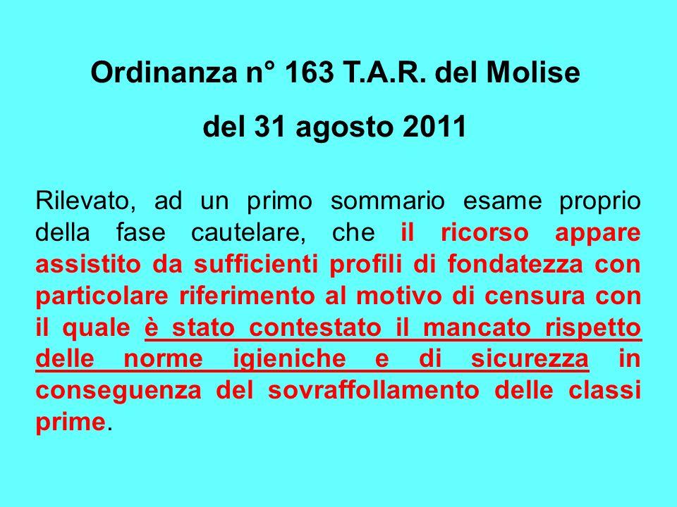 Ordinanza n° 163 T.A.R. del Molise