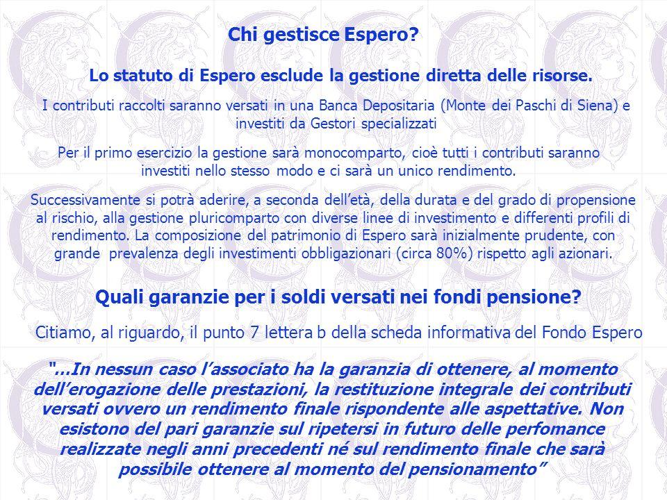 Quali garanzie per i soldi versati nei fondi pensione