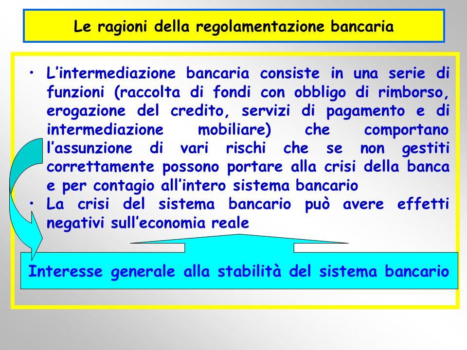 Le ragioni della regolamentazione bancaria