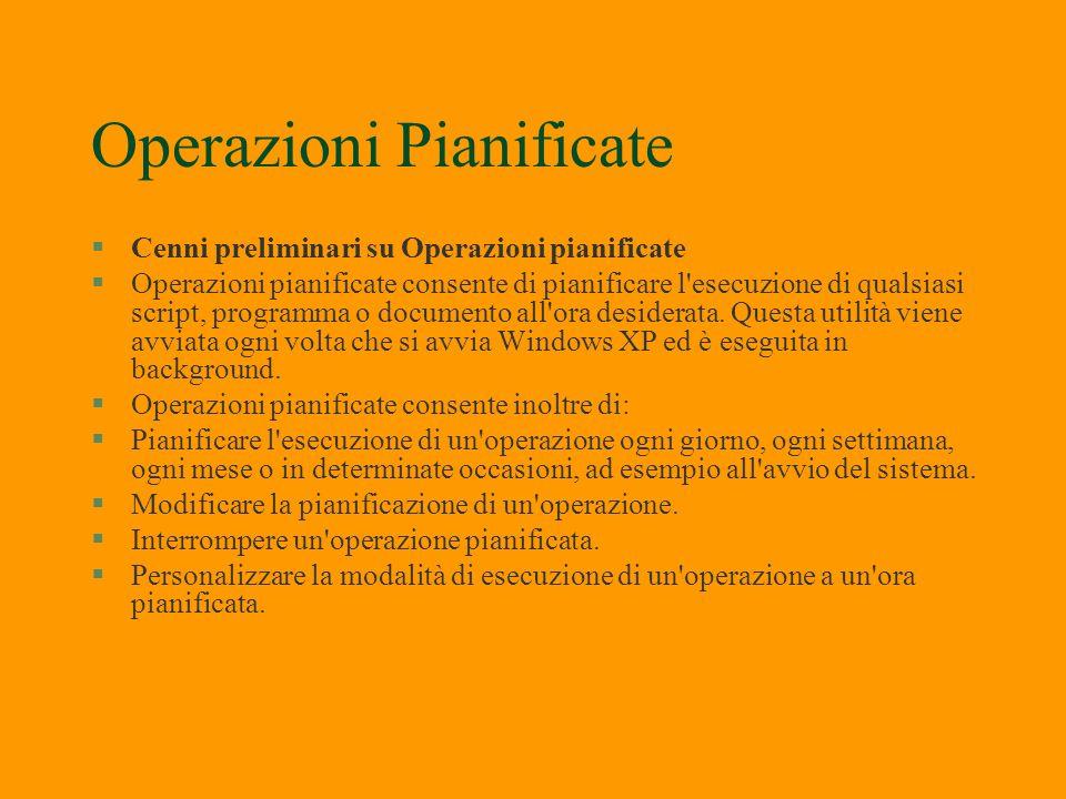 Operazioni Pianificate