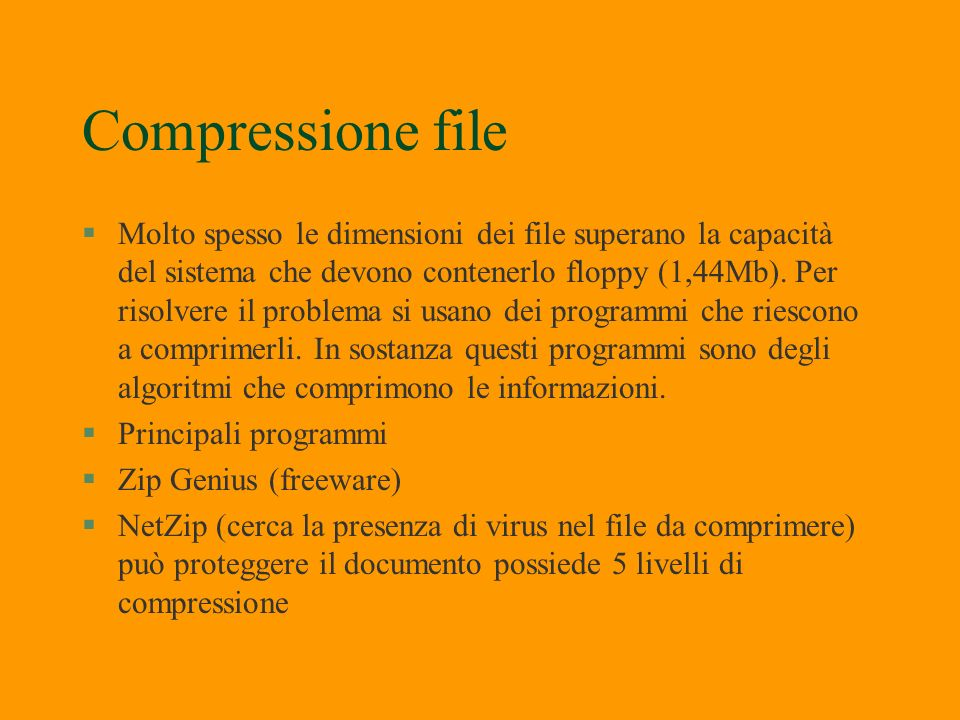 Compressione file