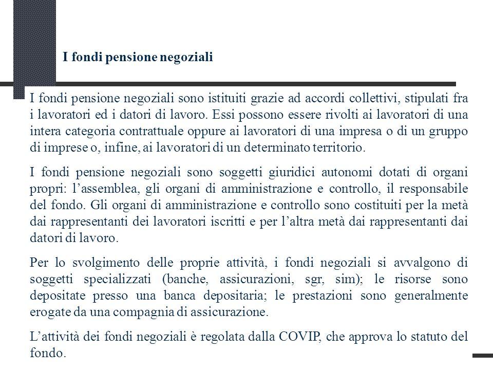 I fondi pensione negoziali