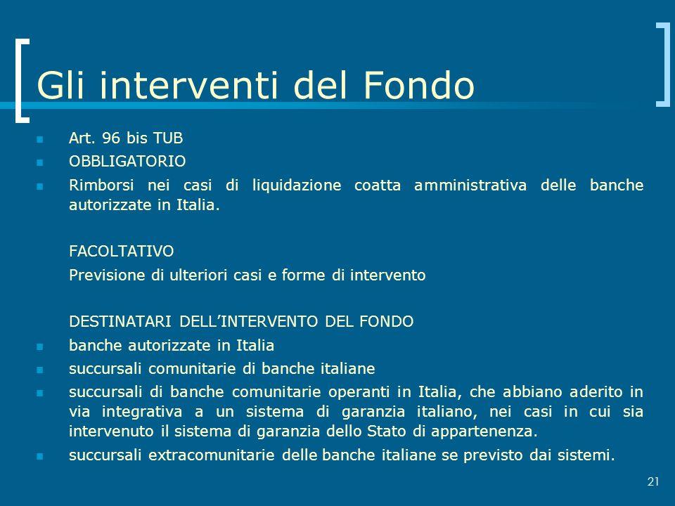 Gli interventi del Fondo