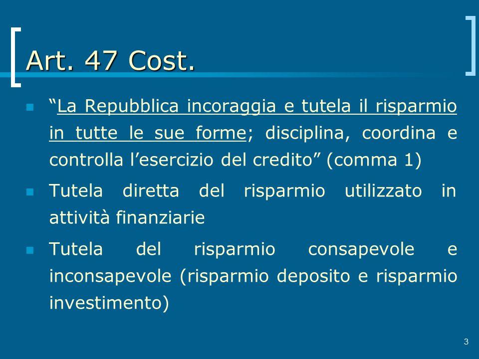 Art. 47 Cost.