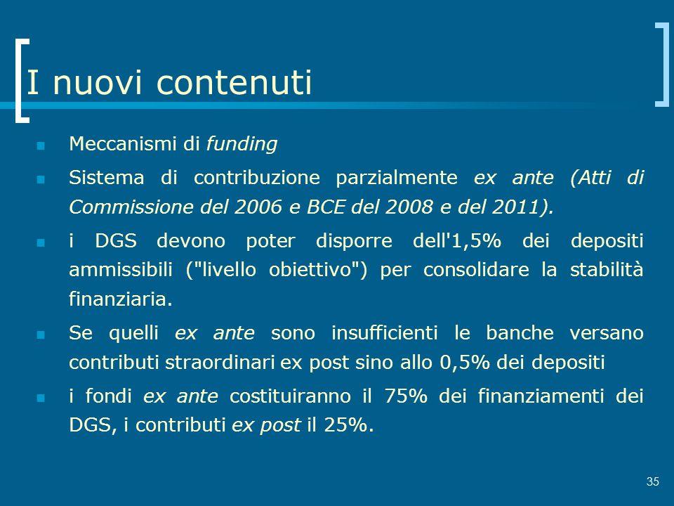 I nuovi contenuti Meccanismi di funding