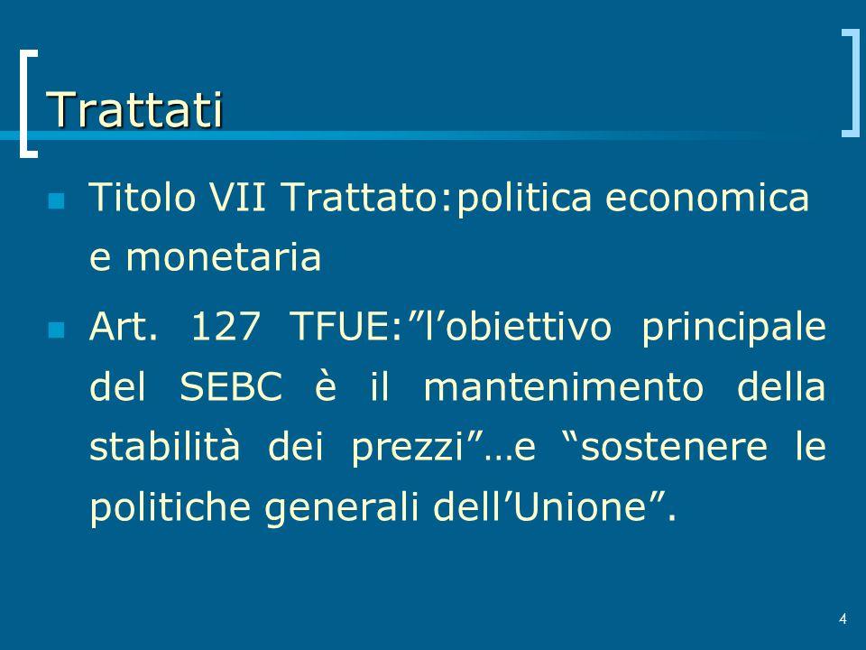 Trattati Titolo VII Trattato:politica economica e monetaria