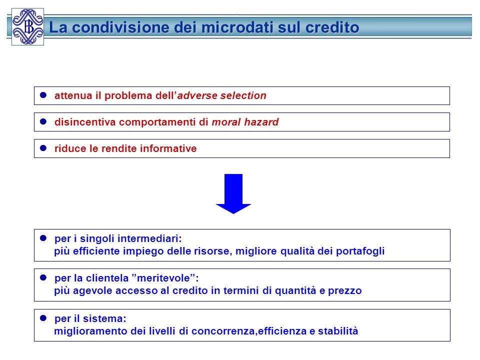 La condivisione dei microdati sul credito