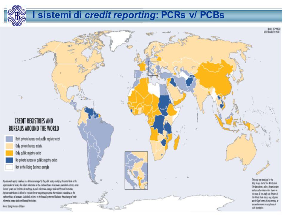 I sistemi di credit reporting: PCRs v/ PCBs