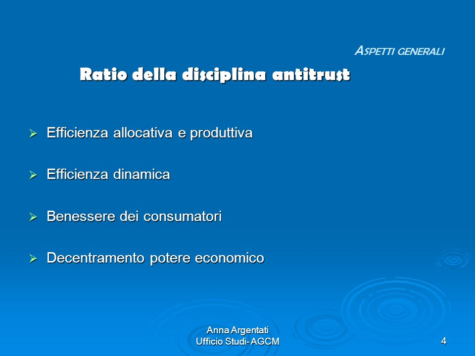 Ratio della disciplina antitrust