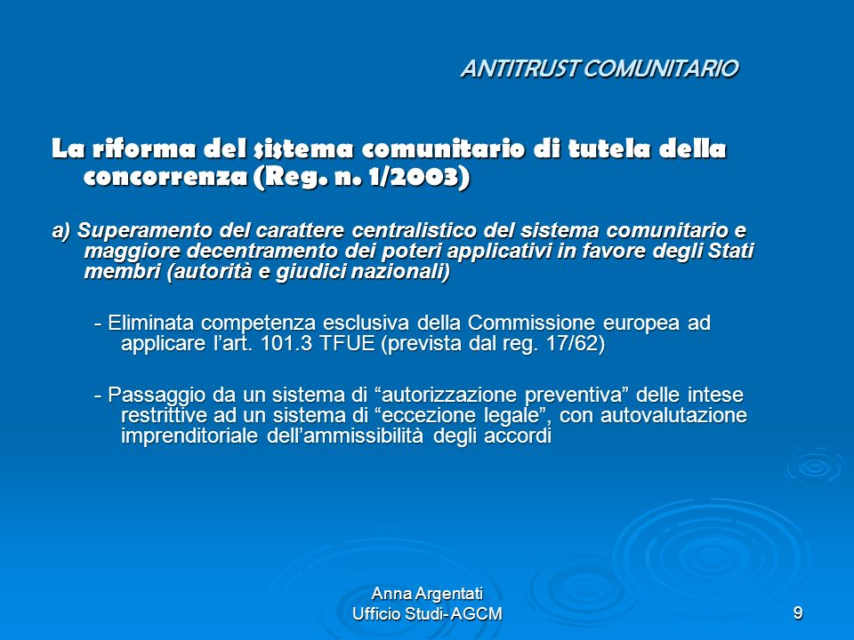 ANTITRUST COMUNITARIO